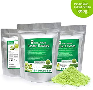 Bio-nutricia Extract-Vanilla of the East, Natural Asian Gourmet Beverage Ingredient, Natural Flavor, Natural Color Chlorophyll of Pandan Leaf Extract Powder 300g X 3 Packs