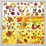 Erntedankfest Fensteraufkleber, 9 Sheet thanksgiving fenster haftet herbst Herbst Fensterbilder ohne Kleber Thanksgiving Fensterdeko für Thanksgiving Herbst Party Zubehör