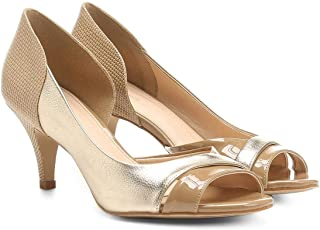 Peep Toe Shoestock Salto Fino Mix Texturas