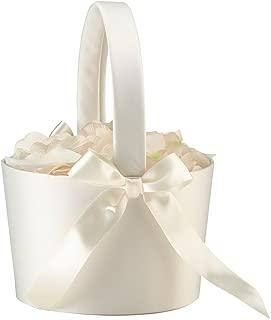 Lillian Rose FB100 C Elegant Simple Large Flower Girl Basket, Cream