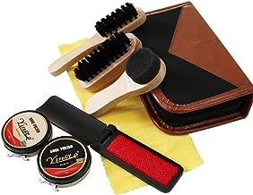 Daclay Shoe Brush Polisher Household Leather Shoes Convenient Care Pig Bristle Brush Black Colorless Shoe Polish Brush Set