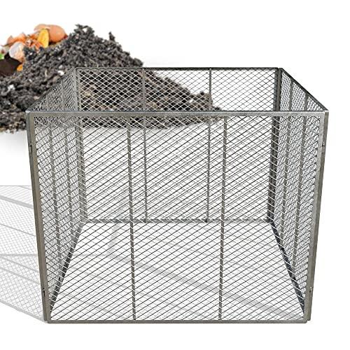 Heimfleiss® Metallkomposter 100x100x80 cm   engmaschiger & feuerverzinkter Kompostierer mit 800 Liter Volumen   Komposter Metall mit simplem Stecksystem   robuster Bio Gartenkomposter aus Streckmetall