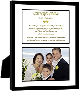 My Mother On My Wedding Day 8x10 Frame with Poem and Area for a Photo of Mom