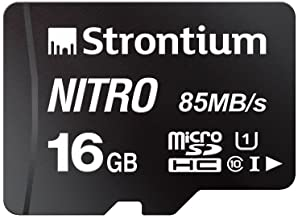 Strontium Nitro 16GB Micro SDHC Memory Card 85MB/s UHS-I U1 Class 10 High Speed for Smartphones Tablets Drones Action Cams...