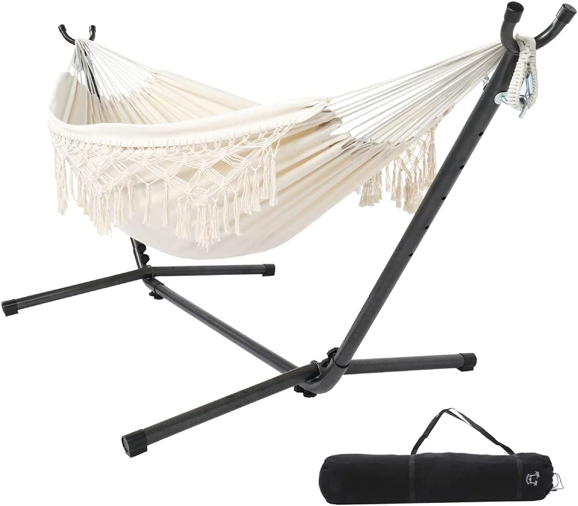 ONCLOUD Financial sales sale Double Hammock with Stand Space 9ft Steel Saving I 1 year warranty