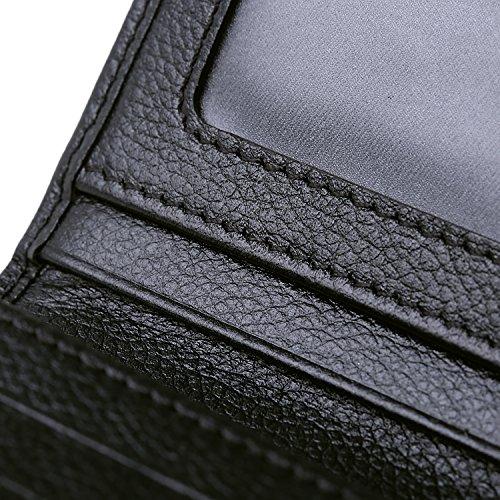 Women RFID Blocking Wallet Trifold Ladies Luxury Leather Clutch Travel Purse Black