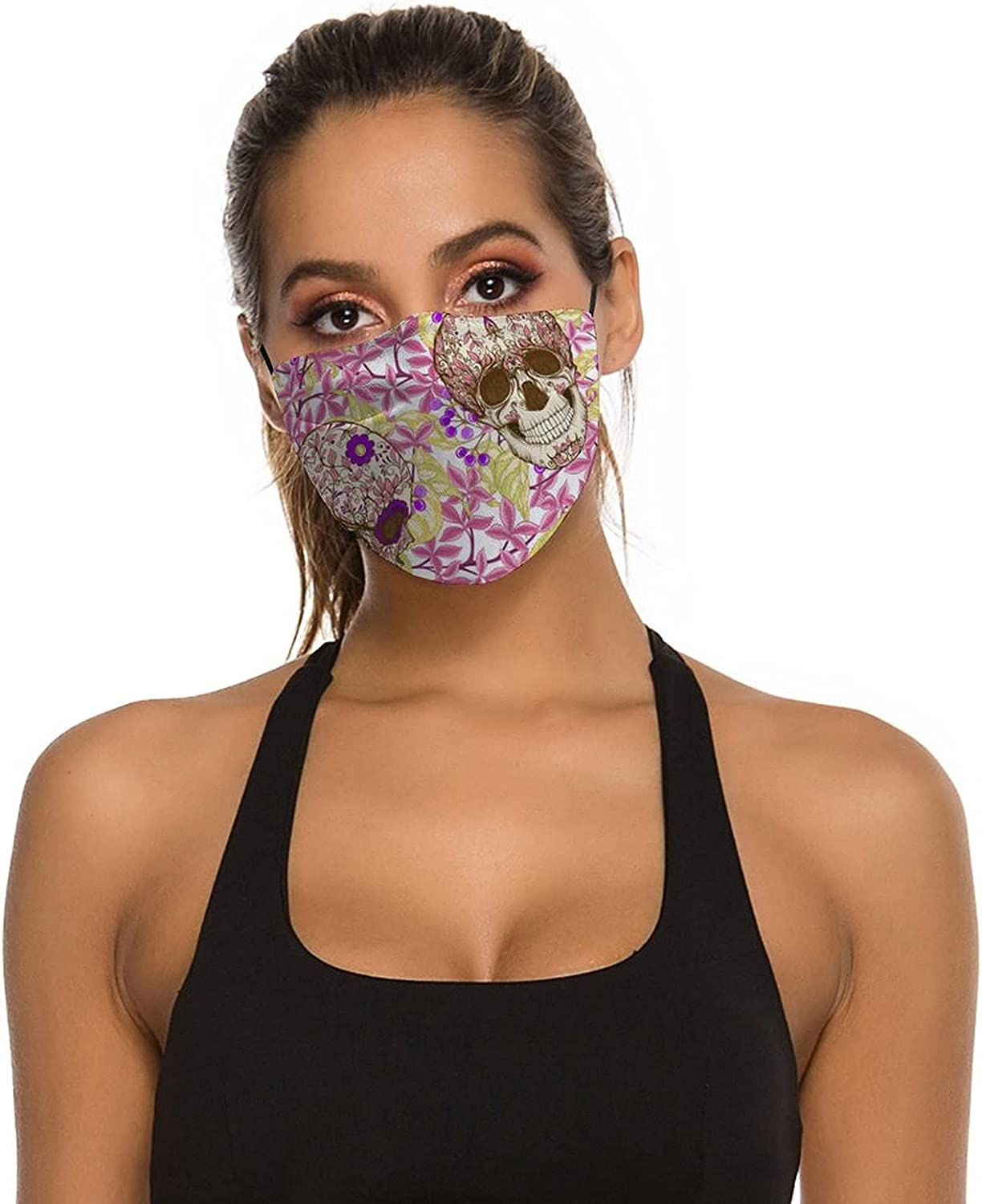Adult Washable Face Masks,Adjustable Face Covering with with 2 Filters