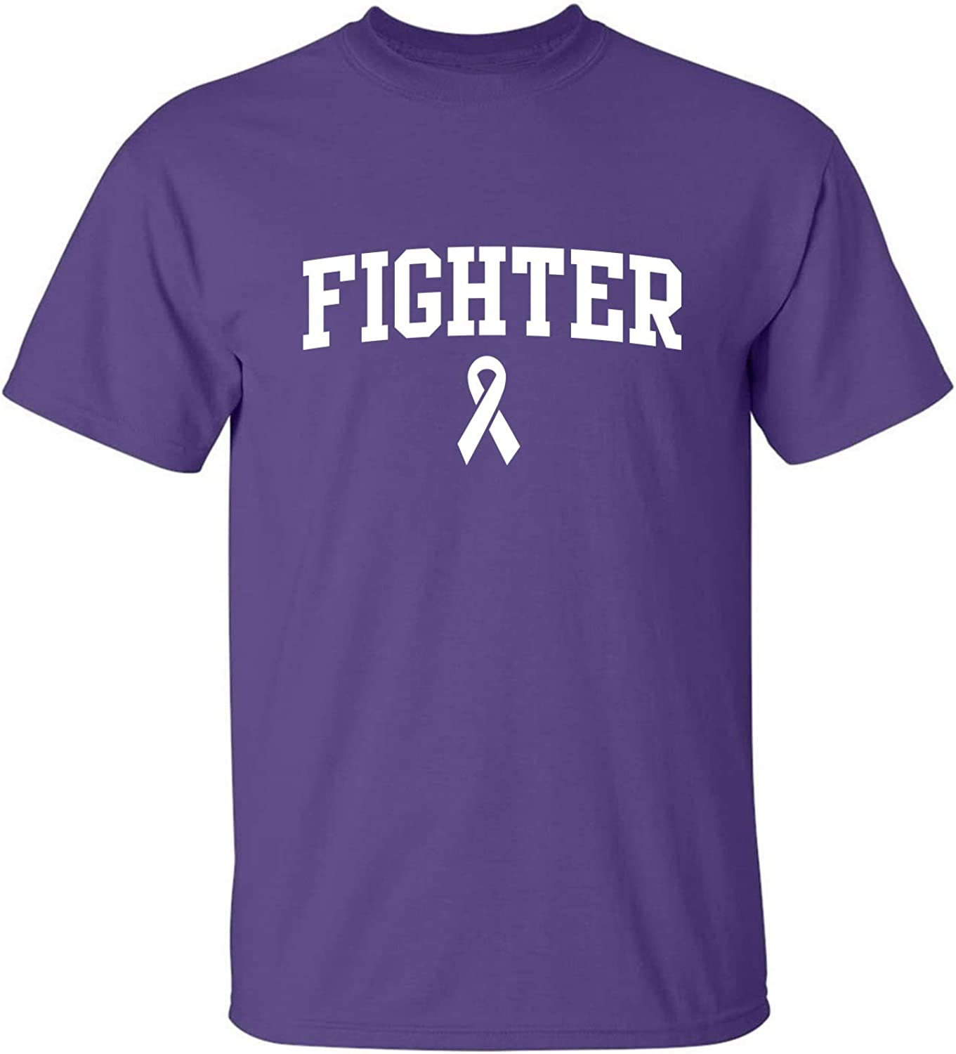 Fighter Ribbon Adult T-Shirt in Purple - XXXX-Large
