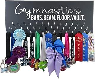 RunningontheWall Gymnastics Gifts for Teen Girls, Gymnast Gifts Gymnastics Beam.Vault.Bars.Floor. Gymnastics Ribbon Display, Gymnast Ribbon Hanger