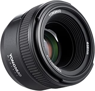 Lente Yongnuo YN50mm F1.8Gran apertura AF. Enfoque automático FX DX. Full Frame. Para Nikon + Andoer con paño de limpieza.