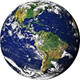 Gifts Delight Laminated 24x24 inches Poster: Globe Earth World Transparency...