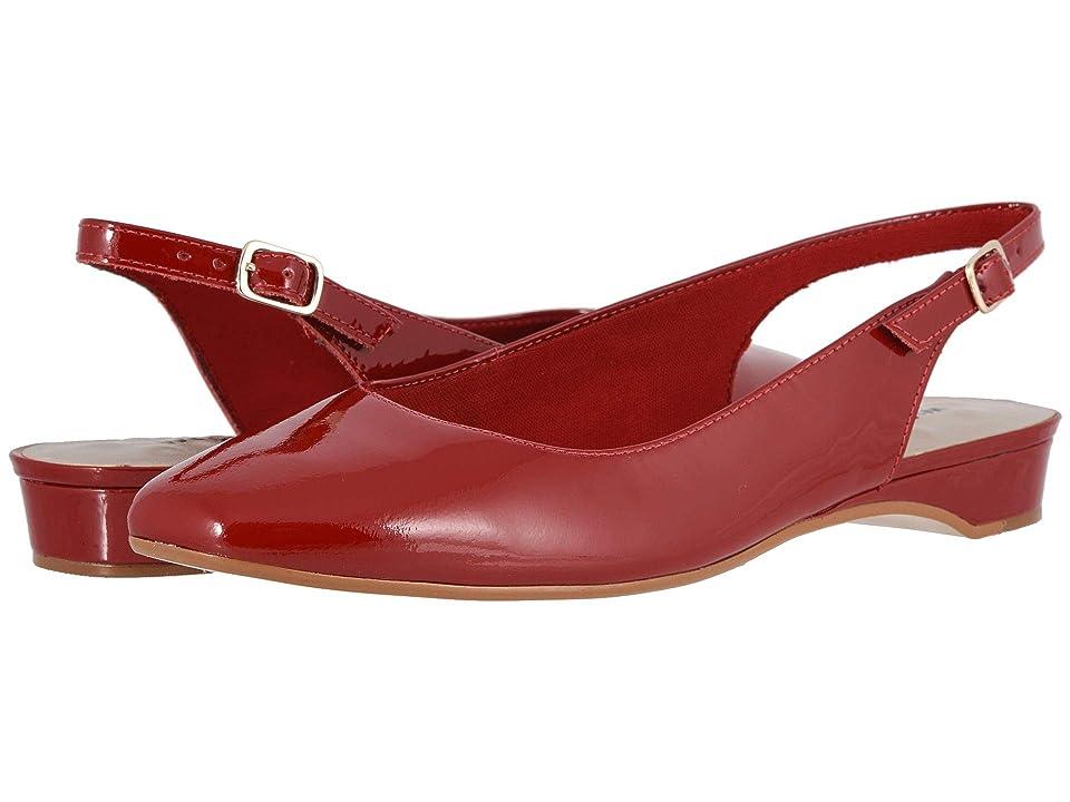 1950s Shoe Styles: Heels, Flats, Sandals, Saddles Shoes Walking Cradles Parasol Red Patent Womens Shoes $114.95 AT vintagedancer.com
