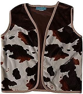 Kids Brown Cowboy or Cowgirl Western Dress Up Vest (Choose Size)