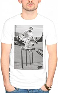 Official Star Wars Stormtrooper Skateboard T-Shirt Luke Skywalker Film Movie Jedi Darth Vader