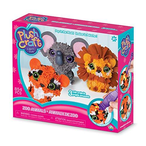 The Orb Factory Zoo Animals 3D Multi Mini Arts & Crafts, Brown/Orange/Grey/White/Black/Yellow, 10 x 3 x 8.5