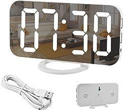 """Spiegel Wecker-Digitaler Wecker, große 6,5"""" LED-Anzeige mit Dimmer-Modus zur.."""