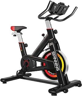 gridinlux. Bicicleta de Spinning. Pantalla LCD Pulsómetro Resistencia Variable Altura Ajustable Indoor Volante de Inercia Unisex