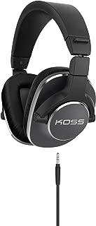 Koss Pro4S Full Size Studio Headphones, Black with Silver Trim