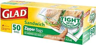 Glad Zipper Sandwich Bags, 50s