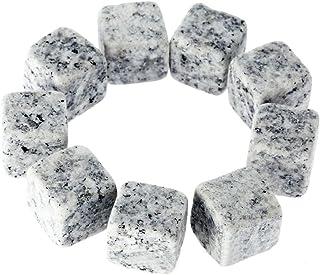 9er Set Whisky-Steine Grau Aus Natürlichem Speckstein- On The Rocks Kühlsteine Mit Praktischen Stoffbeutel