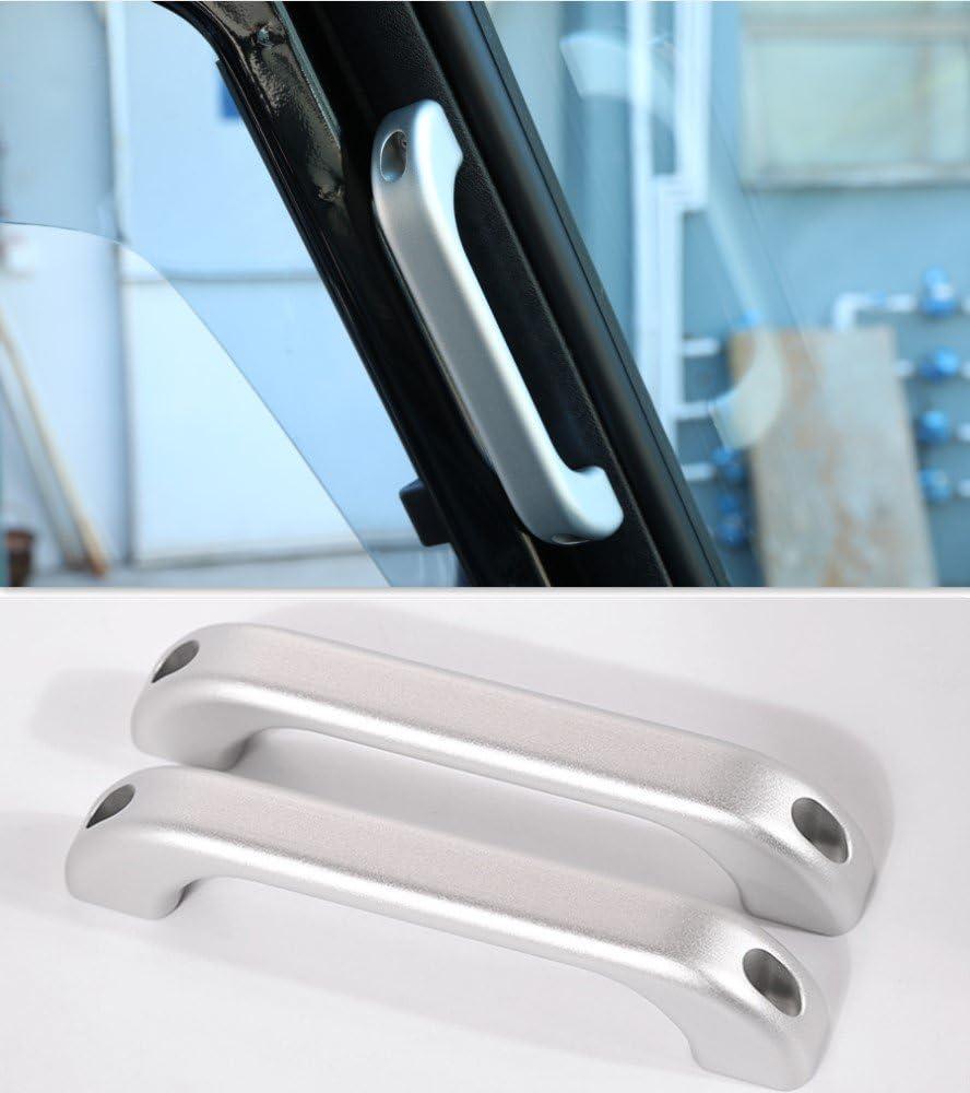 2PCS Alloy A pillar shop Grab Bar Silver For Rover Land Baltimore Mall Defend handle