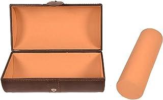 Stones Bridge Genuine Leather Jewelry Box/Bracelet/Watch case Organizer (Brown)