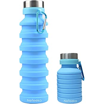 Collapsible Water Bottle for Travel Cruise Outdoors Sports Camping Hiking Gym