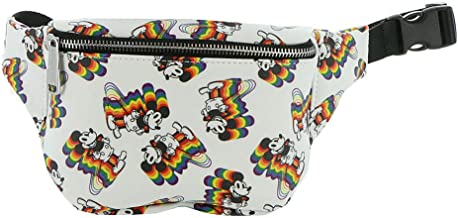 Loungefly x Disney Mickey Mouse Rainbows Fanny Pack (Multicolored, One Size)