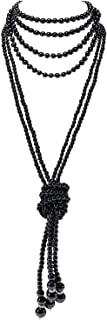 black flapper necklace