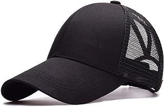 Tuopuda Cappellino da Baseball Sonnena Berretto da Baseball Tinta Unita Berretto di Coda di Cavallo Cappello Snapback Rego...