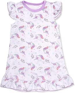 Girl Nightgowns for Girls Unicorn Mermaid Bear Nightshirt Pajamas Long Sleeve Nightdress Sleepwear Dress for Kids 2-13 Years