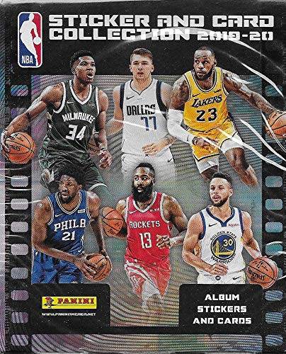 2019/2020 Panini NBA Basketball Sticker Collection Factory Sealed Unopened Box of 50 Packs(Containing 250 Stickers and 50 Cards)