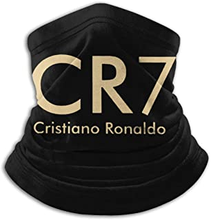 クリスティアーノ・ロナウド Cristiano Ronaldo CR7 秋と冬のフリースネックウォーマー防風熱性能コンフォートフリース&マイクロファイバーリバーシブルネックゲーターチューブ耳ウォーマーヘッドバンド