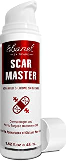 Ebanel Advanced Silicone Scar Gel, 1.62 Oz Scar Removal Cream for Old & New Scars of Acne, Surgical, C-Section, Injuries, ...