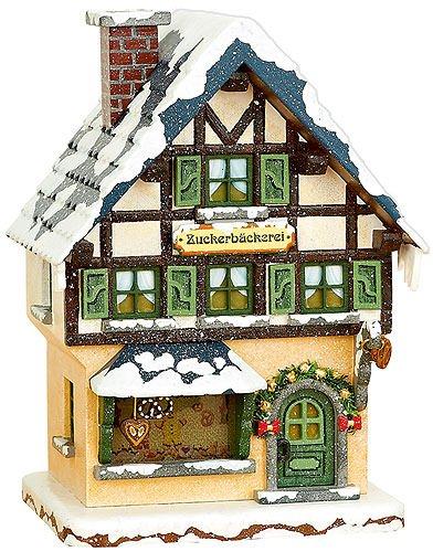 Hubrig-Volkskunst Winterkinder Zuckerbäckerei 15 cm elektr. beleuchtet