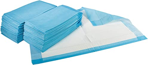 Medpride Disposable Underpads 17'' x 24'' (100-Count) Incontinence Pads, Bed Covers, Puppy Training | Thick, Super Absorbent Protection for Kids, Adults, Elderly | Liquid, Urine, Accidents