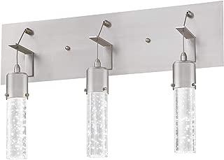 Westinghouse Lighting 6372100 Cava Three-Light, 22-Watt LED Indoor Bathroom Vanity Light Fixture, Brushed Nickel Finish with Bubble Glass