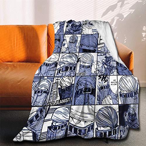 My Hero Academia Collage Anime BNHA Tokoyami Fumikage Coperta in flanella ultra morbida copriletto in microfibra resistente, decorazione per la casa, perfetta per divano letto 127 x 101,6 cm