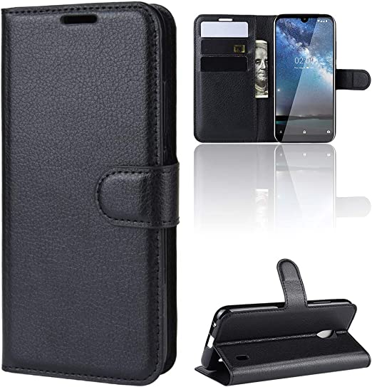 3D Shockproof PU Leather Flip Cover Notebook Wallet Case with Magnetic Closure Stand Card Holder ID Slot Folio Soft TPU Bumper Protective for Nokia 2.2 Lyzwn Nokia 2.2 Phone Case