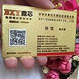 Gratis design personalizzato biglietto da visita in metallo dorato/Stampa nome di affari carta di VIP oro, doppio stampo laterali in metallo carta di buiness 100 pezzi