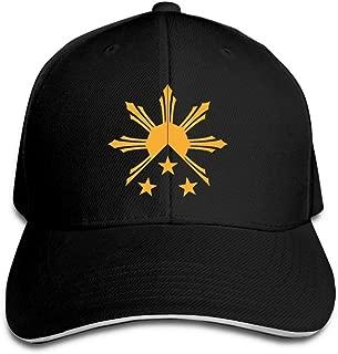 Ausy Men Women Unisex Athletic Baseball Caps Tribal Philippines Filipino and Stars Flag Peaked Dad Hats