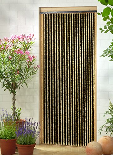"Leguana Handels GmbH Holzperlenvorhang ""Sumatra"", 90 x 200 cm"