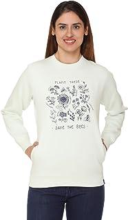 Plush Women's Cotton Full Sleeve Sweatshirt/Sweatshirts (Mint)