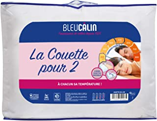 Bleu Câlin Couette Modulable 2 Personnes, Blanc, 240x260 cm, K2P46