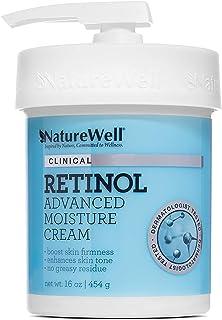 NATUREWELL Retinol Advanced Moisturizing Cream for Face and Body, 16 Oz