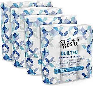 Amazon-merk Presto! Toiletpapier 3-laags mat 36 stuks (4x9x200 vellen) Gemme