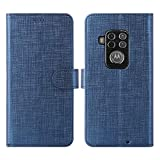 Foluu Motorola One Zoom Case, Wallet Case Cover Card