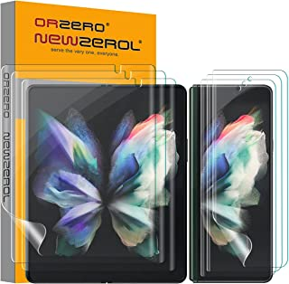 (Upgraded on August 25th) Orzero 3 Sets Soft TPU Screen Protector Compatible for Samsung Galaxy Z Fold 3 5G, with Camera N...