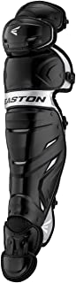EASTON ELITE X Baseball Catchers Leg Guards, 2021, Vented Shell For Ultimate Protection Plus Breathability, Reinforced Kne...