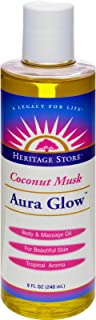 Aura Glow Massage Oil-Coconut Heritage Store 8 oz Liquid